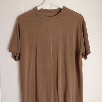 Basic Vintage Tee / Washed Brown