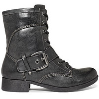 G by GUESS Boots, Bleeker Combat Booties - Shoes - Macy's