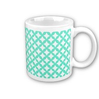 Mint Green And White Seamless Mesh Pattern from Zazzle.com