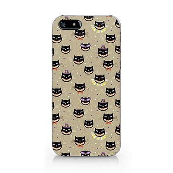 N-536- Halloween cat pattern for iPhone 4/5/5C/6 case, Samsung galaxy S4/S5/Note3 case