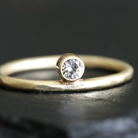 14k gold sole ring