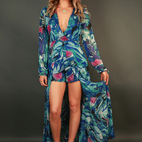 Tropical Vacation Floral Maxi Dress