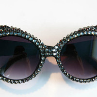 Sparkle Queen Gunmetal Cat Eye Sunglasses Accessory by Cutie Dynamite Sunnies Cute Kawaii Lolita Retro