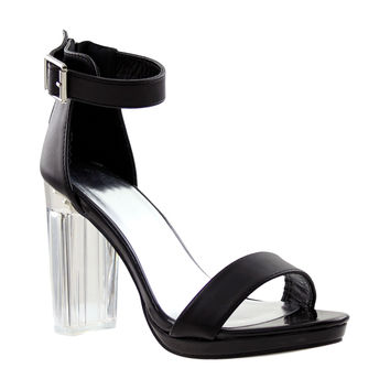Womens Block Heel Sandals Black
