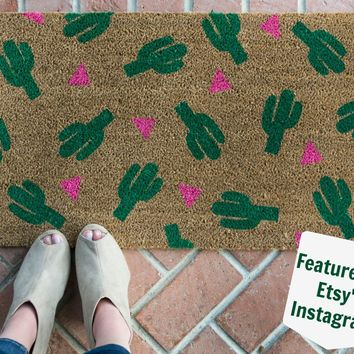 Cactus Patterned Doormat