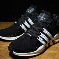 "Fashion ""Adidas"" Equipment EQT Support ADV Black White Casual Sports Shoes"