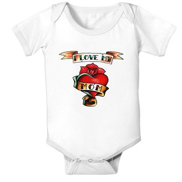 Tattoo Heart I Love My Mom Infant Onesuit