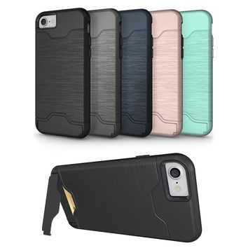 Case For iPhone 7 plus luxury  TPU+PC silicone protective back cover for Apple iPhone 7 phone shell for iPhone7