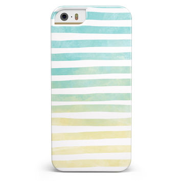Green WaterColor Ombre Stripes iPhone 5/5s or SE INK-Fuzed Case