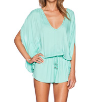 Seafolly Getaway Romper in Peppermint