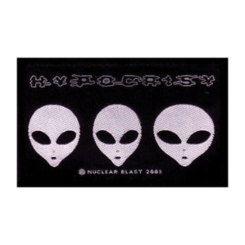 Hypocrisy Men's Aliens Woven Patch Black