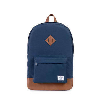 HERSCHEL SUPPLY CO HERITAGE BACKPACK IN NAVY/TAN