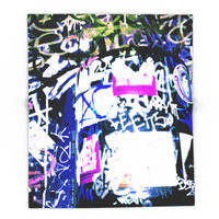 Society6 Bathroom Graffiti Blanket