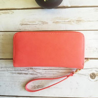 Shades of Cool Wallet-Coral