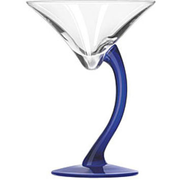 Bravura Cobalt Stem 6.75-oz Martini Glasses (Pack of 12)