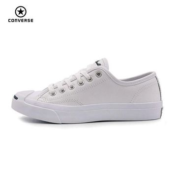 Converse Original new Smile style JACK PURCELL shoes man and women Unisex PU Leather S