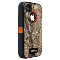 Otterbox Defender Realtree Series Case & Holster for iPhone 4 & 4S - Retail Packaging Protective Case for iPhone - Blaze Orange/AP Camo Pattern