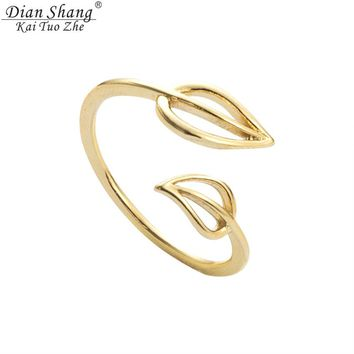 Hot!! BFF Gold Silver Toe Ring  Double Leaf Medusa Rings.
