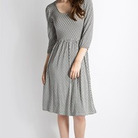 Knit Picky Dress- Black Geo Print