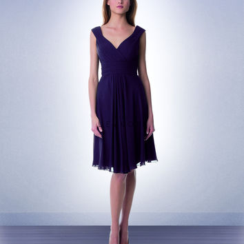 Bill Levkoff Short Chiffon Bridesmaids Dress 941