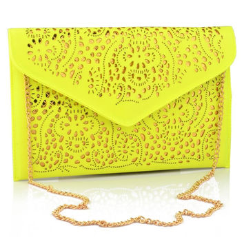 Vintage Cutout Envelope Handbag Clutch  Punk Rocker Chic