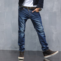 High Quality Cotton Men Slim Stretch Denim Pants Jeans [6528729155]