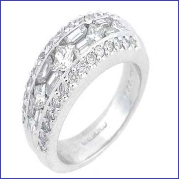 Gregorio 18K White Gold Diamond Engagement Band R-202