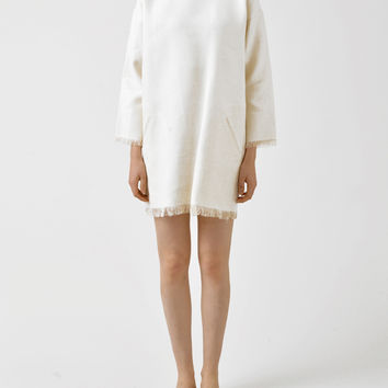 Isabel Marant roxana raw linen pullover mini dress at Bird : ShopBird.com