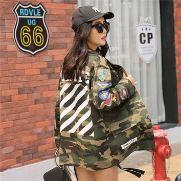 Streetwear Army Green Printed Camouflage Jacket
