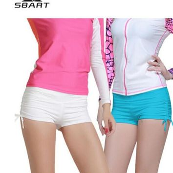 SBART Drawstring Active Woman Swimming Shorts Surfing Womens Trunks Brief Board Beach/Diving Clothes Bathing Suits