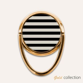 Gold Stripes Phone Ring Finger Holder Mount Stand Grips
