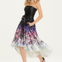 Floral Print Hi-Low Dress