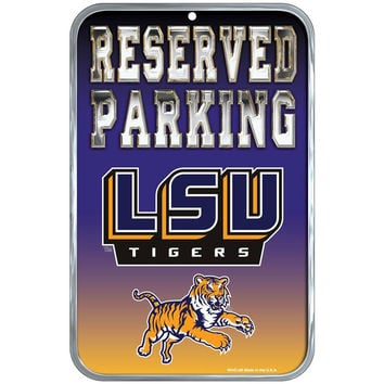 LSU Tigers - Reserved Parking Plastic Sign