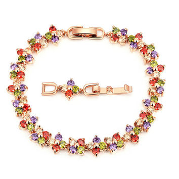 Awesome Hot Sale Gift Great Deal Shiny New Arrival Crystal Korean Stylish Multi-color Bracelet [11597567055]