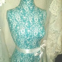 Decorative life size dress form designs boutique store front, craft show booth displays, turquoise