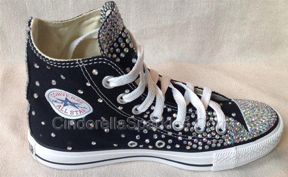 Black Chuck Taylor High Top Crystal From