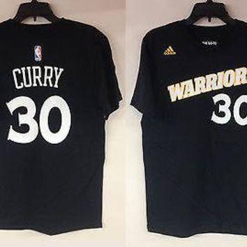 Stephen Curry Golden State Warriors #30 Adidas Black Crossover NBA Men's T-Shirt