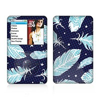 The Blue Aztec Feathers and Stars Skin For The Apple iPod Classic