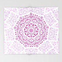 A Glittering Colorful Mandala 2 Throw Blanket by Octavia Soldani | Society6