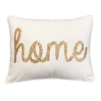 Thro by Marlo Lorenz 'Home' Sequined Feather-filled Throw Pillow | Overstock.com Shopping - The Best Deals on Throw Pillows