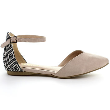 Mixx Shuz Women's 'Jane' Buckled Ankle Strap Pointed Toe Flats