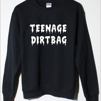 Teenage Dirtbag Black Fleece Sweatshirt  One Direction 5 Seconds of Summer