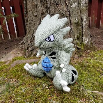 Pokemon Inspired: Tyranitar Amigurumi (Crochet Plushie/Plush Toy) - MADE TO ORDER