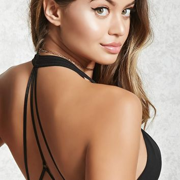 Sheer Mesh Strappy Bralette