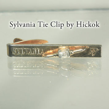 1950s Sylvania Tie Clasp Hickock Corporate Collectible Advertisement Gift
