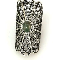 Filigree Cut-Out Ring In Antique Silver|Thirteen Vintage