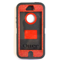 Otterbox Case iPhone 5 Glitter Cute Sparkly Bling Defender Series Custom Case Frost Red/Black