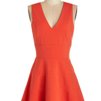 ModCloth Short Sleeveless A-line Let's Swing Together Dress