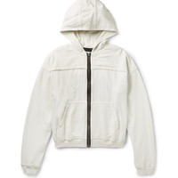 Haider Ackermann - Perth Raw-Edge Cotton-Jersey and Twill Hoodie