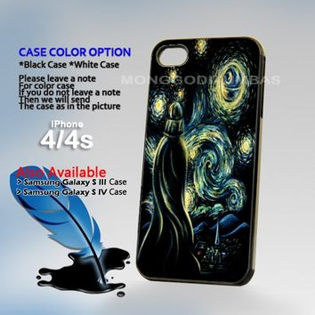 Star Wars Darth Vader Van Gogh Photo On Hard Plastic iPhone 4 4S Case